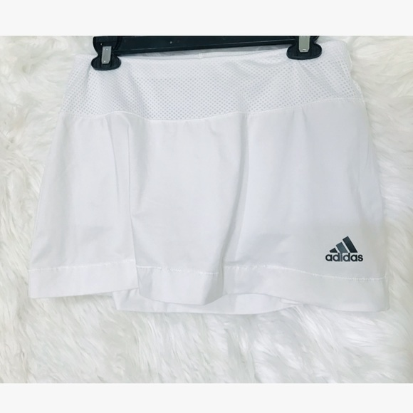 adidas Dresses & Skirts - ClimaCool Adidas White Tennis Skirt with Shorts